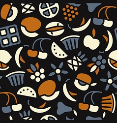 Fruit seamless pattern in flat style vector
