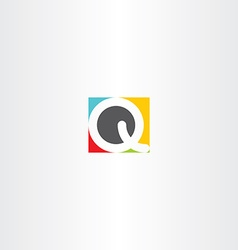 Colorful icon q letter q design symbol vector