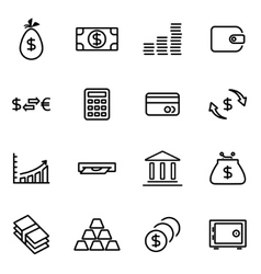 Thin line icons - money vector