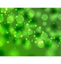 Abstract green Bokeh texture vector image
