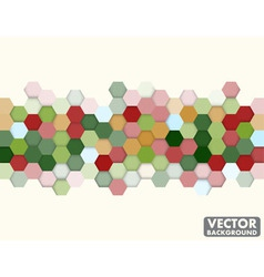 Abstract honeycomb hexagon background christmas vector