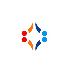 Abstract shape dot geometry business logo vector