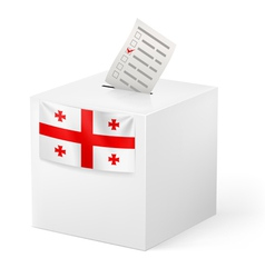 Ballot box with voting paper georgia vector