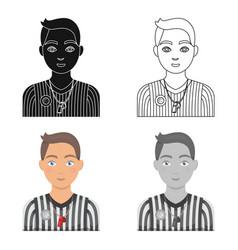 Basketball refereebasketball single icon in vector