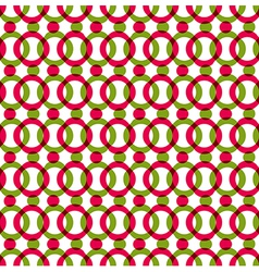 Bright dotted seamless pattern with red and green vector image vector image