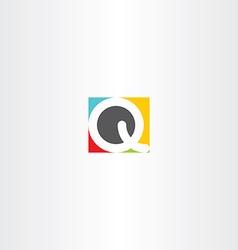 colorful icon q letter q design symbol vector image