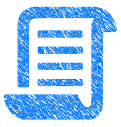 Conclusion roll document grunge icon vector