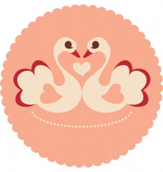 decorative swans vector image vector image