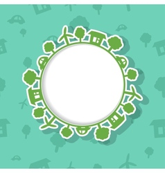 Eco Frame on Seamless Background vector image