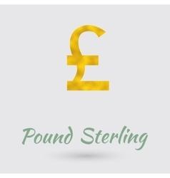 Golden pound sterling symbol vector