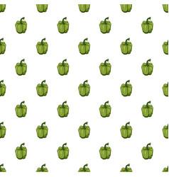 Green pepper pattern vector
