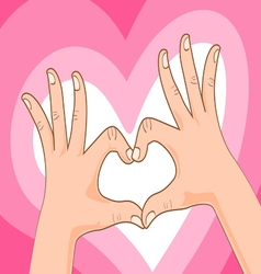 hand symbol vector image vector image