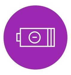 Low power battery line icon vector