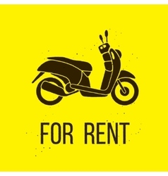 Motorbike for rent icon vector
