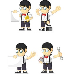 Nerd Boy Customizable Mascot 18 vector image