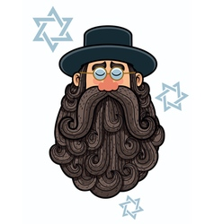 Rabbi portrait vector