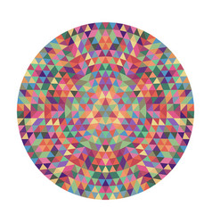 Round geometric triangle mandala design - vector
