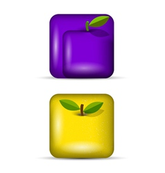 set 3 of app icons fruits vector image