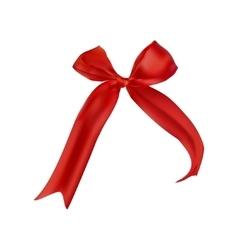 Shiny red satin ribbon vector image vector image