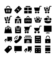 Shopping icons 1 vector