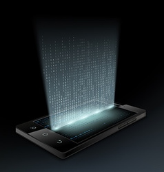 Smartphone Technology background vector image vector image