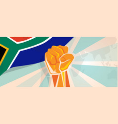 South africa fight and protest independence vector