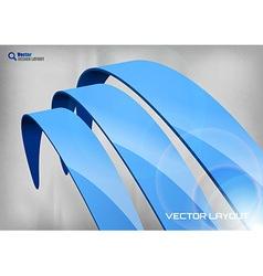 stripes big blue vector image vector image