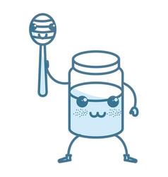 sweet honey kawaii character vector image