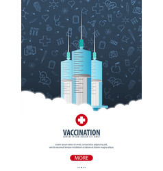 Vaccination medical poster health care vector