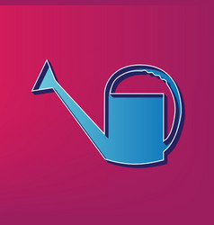 Watering sign blue 3d printed icon on vector