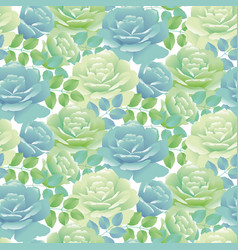 tender spring roses  abstract pale blue and green vector image