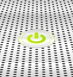 Power green button vector