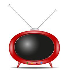 retro tv in red design vector image
