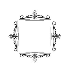 Black border monogram decorative element vector