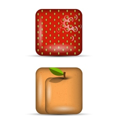 set 4 of app icons fruits vector image