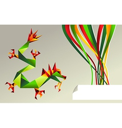 2012 China origami dragon of water vector image
