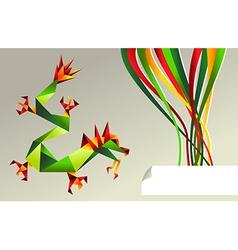 2012 china origami dragon of water vector