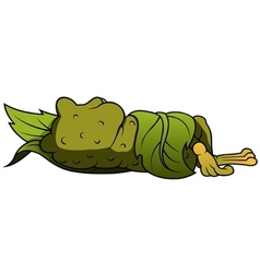 Frog sleeping vector