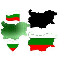 Map of bulgaria vector
