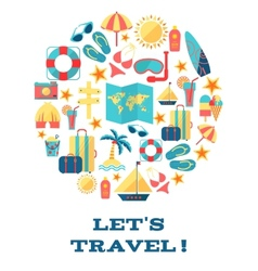 Lets travel  concept vector