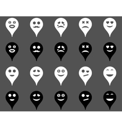 Emotion map marker icons vector