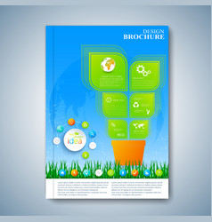 Modern template layout brochure magazine flyer vector