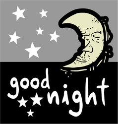 Good night symbol vector