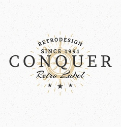 Helm vintage retro design elements for logotype vector