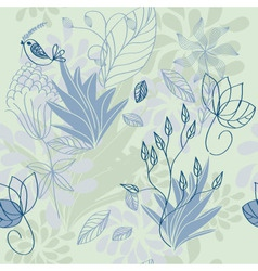 Herbal pattern vector