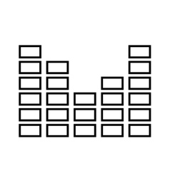 Audio levels icon isolated icon design vector