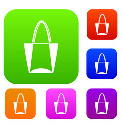 big bag set color collection vector image