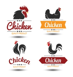 Chicken label 2 vector