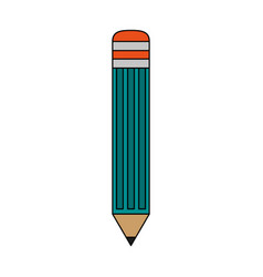 color image cartoon front view pencil element to vector image vector image