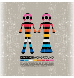 Colorful Couple of men and women vector image vector image